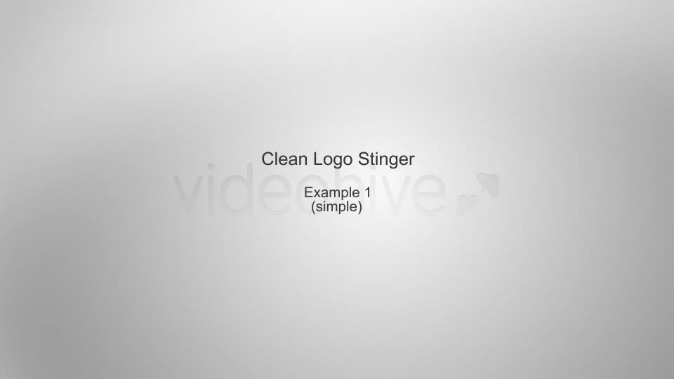 Clean Logo Stinger - Download Videohive 4099709