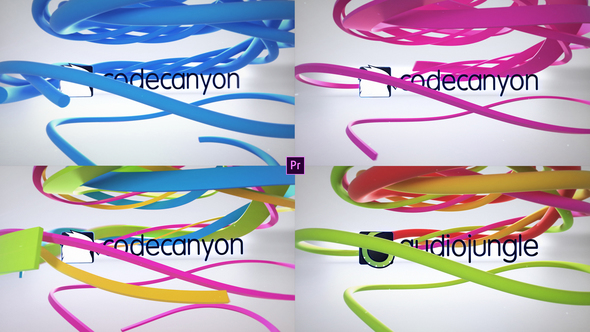 Clean Ribbon Logo Reveals - Download Videohive 22853784