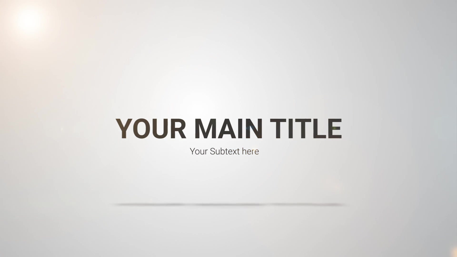 Clean Title Reveal - Download Videohive 21817502