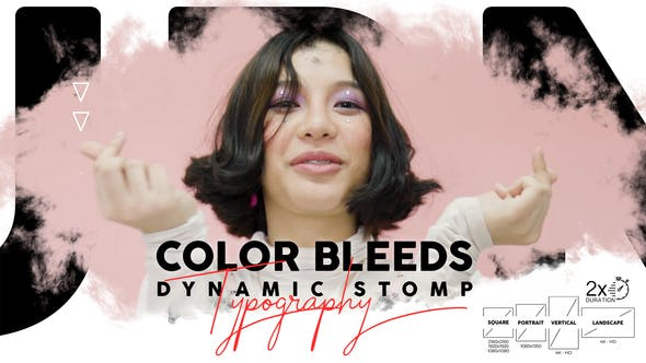 Color Bleeds Dynamic Stomp Typography - 24335901 Videohive Download