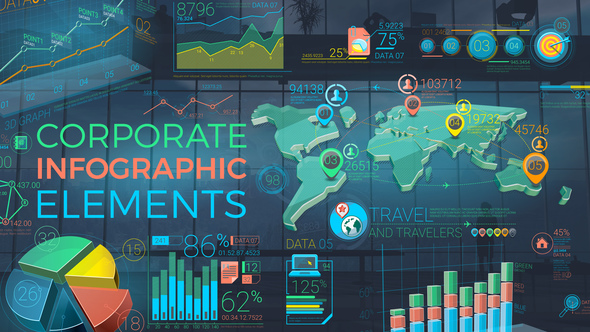 Colorful Corporate Infographic Elements - Download Videohive 22933640