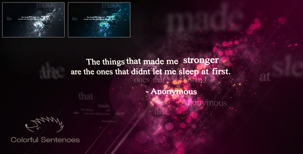 Colorful Sentences - Download Videohive 5036332