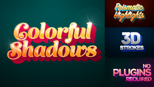 Colorful Shadows Motion Titles Pack - Download Videohive 17836598