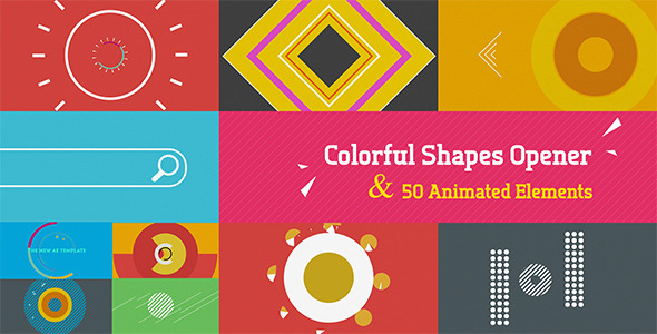 Colorful Shapes Opener - Download Videohive 4427393