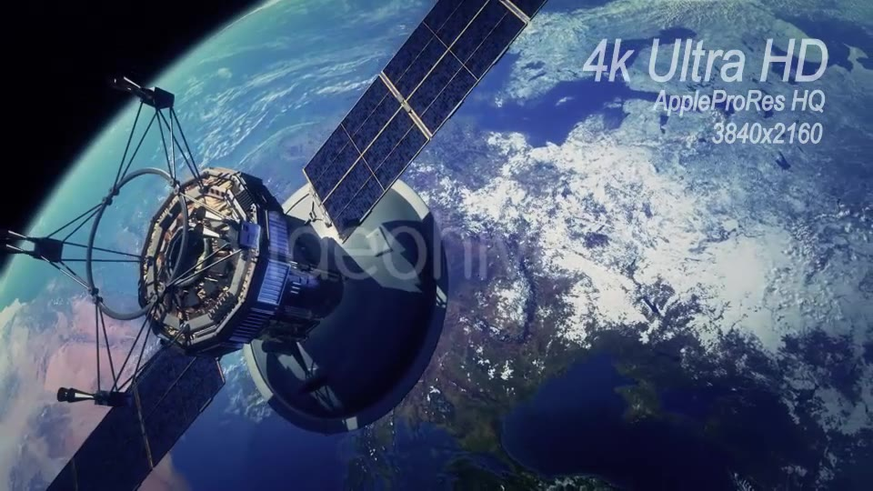 Communication Satellite Orbiting Earth - Download Videohive 13372334