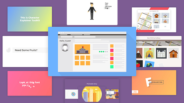 Company Explainer l Flat Collection - Download Videohive 19298551