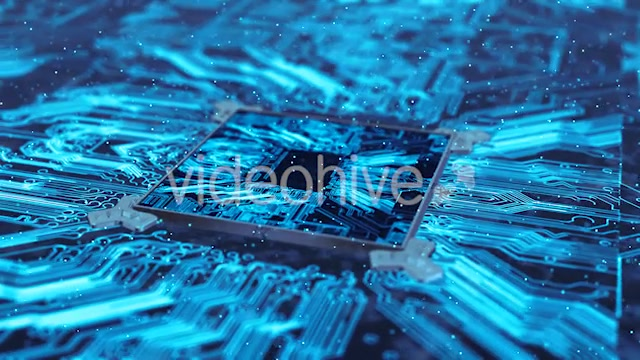 Computer Chip Of Central Processing Unit Network Technology 4K - Download Videohive 20970014