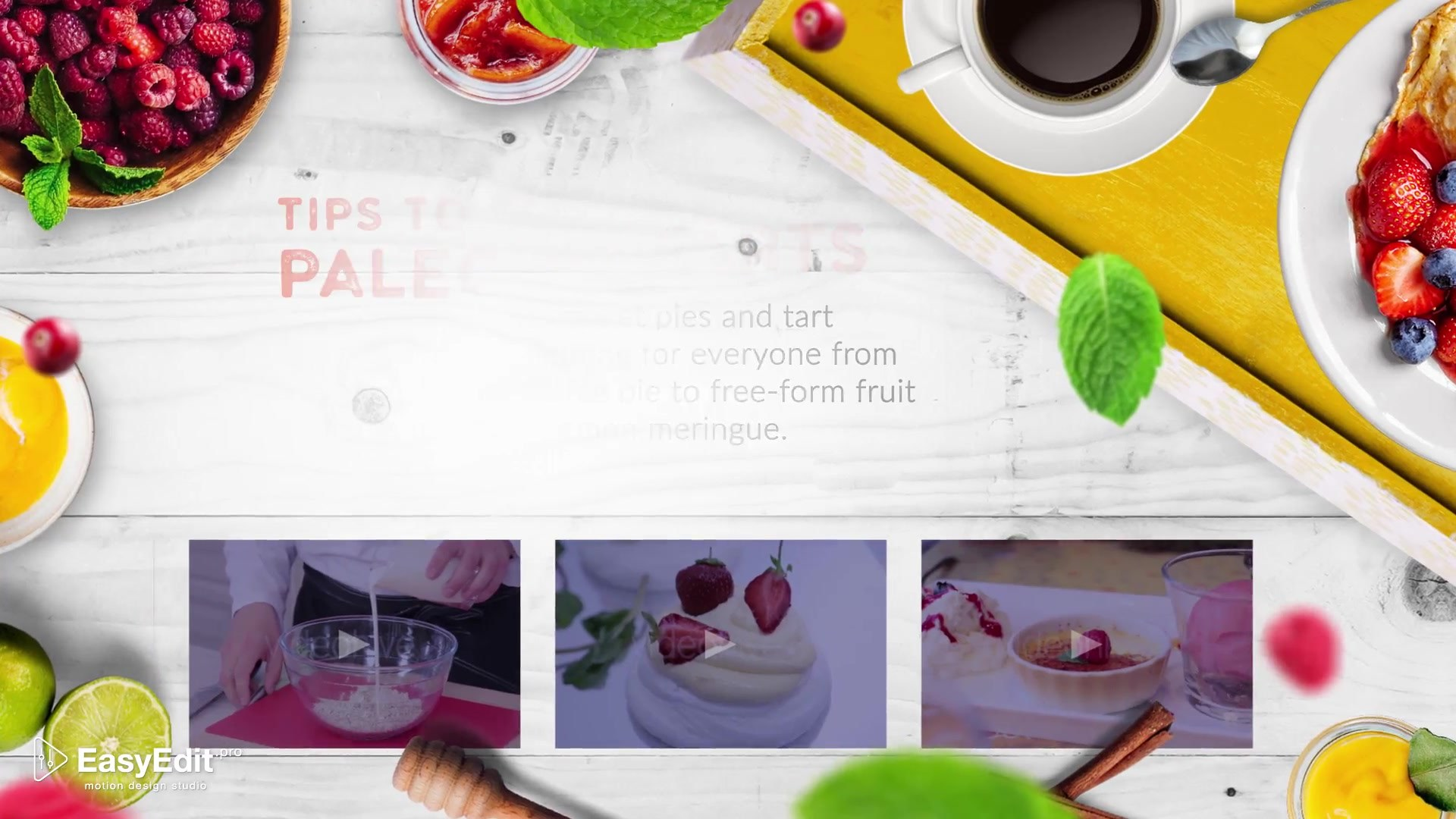 Cooking Design Pack Desserts - Download Videohive 20035937