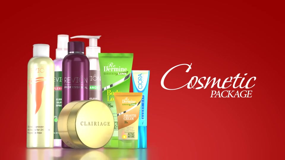 Cosmetic Package Template - Download Videohive 19190180