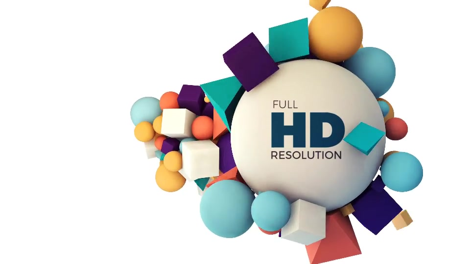 Creative 3D Shapes Opener Intro Broadcast - Download Videohive 20140262