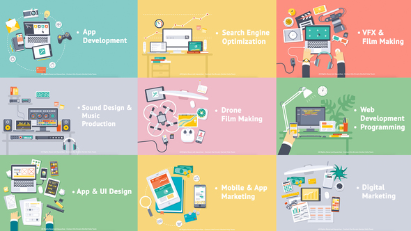 Creative Process Flat Design Concepts - Download Videohive 18312170
