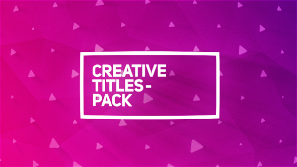 Creative Titles Package - Download Videohive 20060827