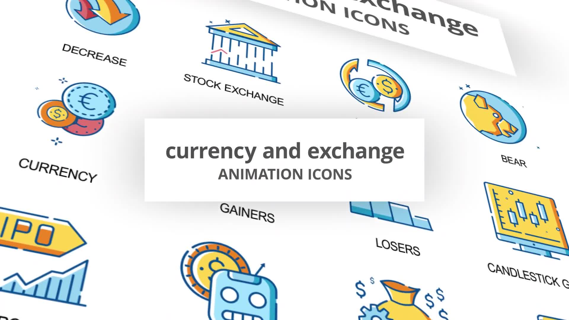 Currency & Exchange Animation Icons Videohive 30260825 After Effects Image 1