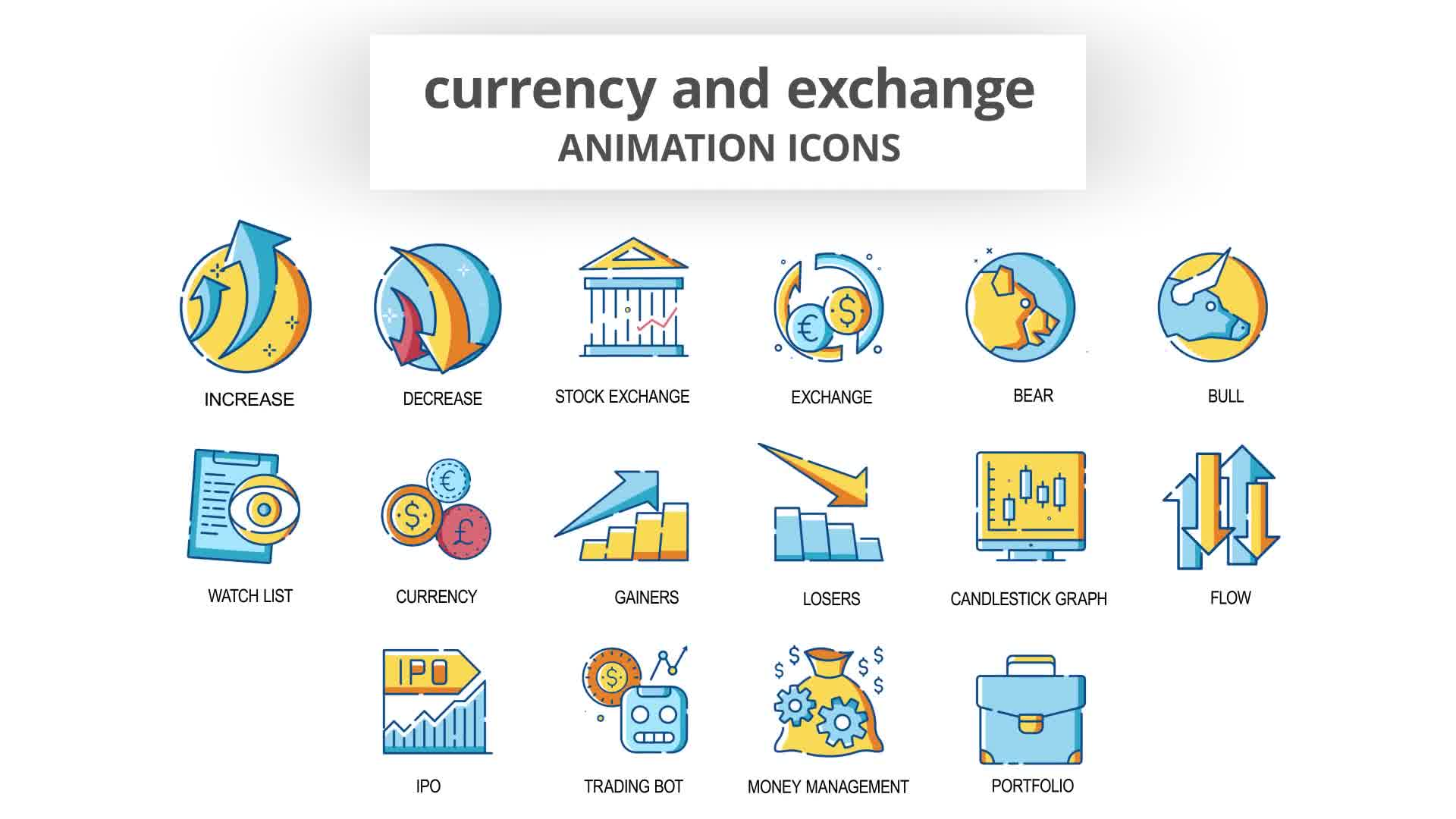Currency & Exchange Animation Icons Videohive 30260825 After Effects Image 10