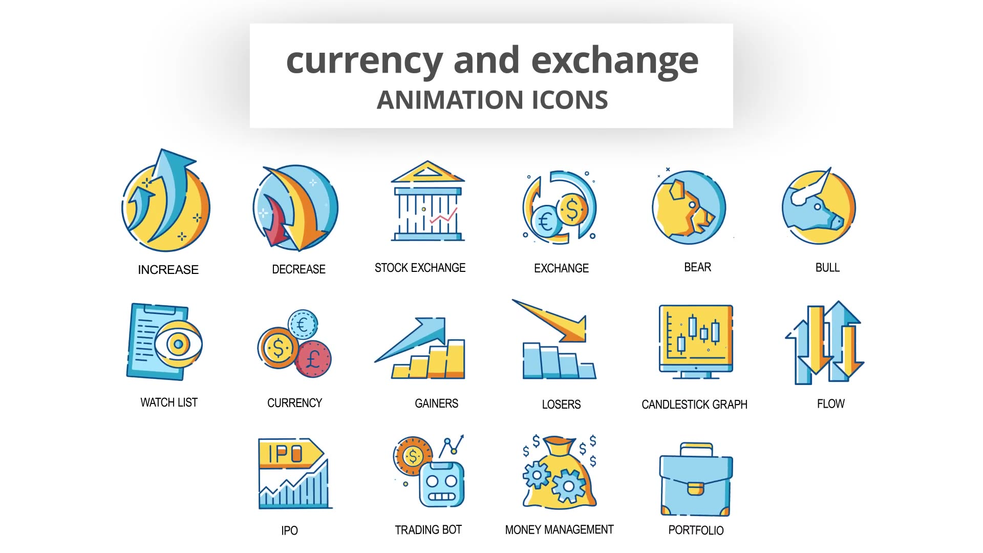 Currency & Exchange Animation Icons Videohive 30260825 After Effects Image 5