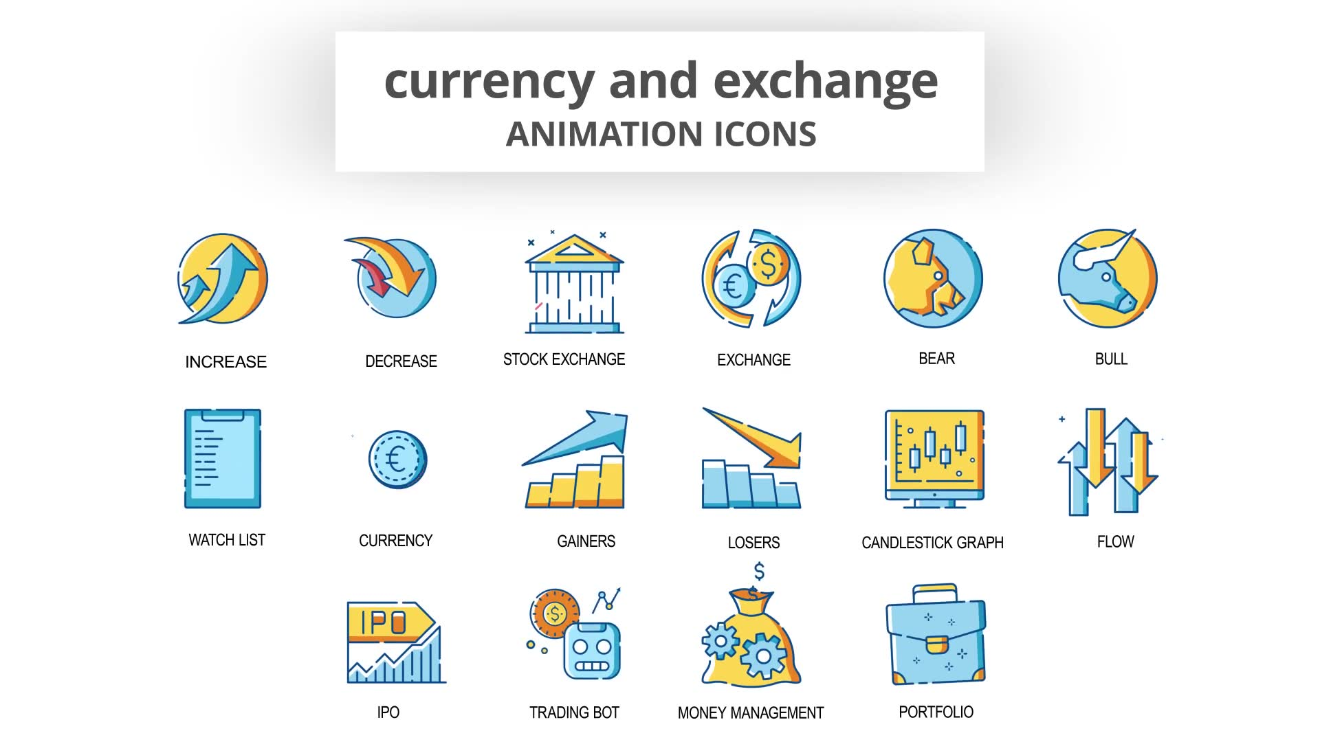 Currency & Exchange Animation Icons Videohive 30260825 After Effects Image 6