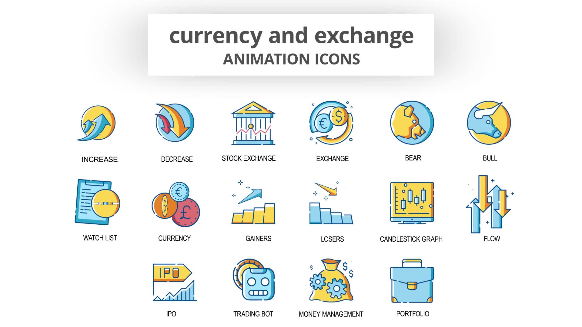 Currency & Exchange Animation Icons Videohive 30260825 After Effects Image 7