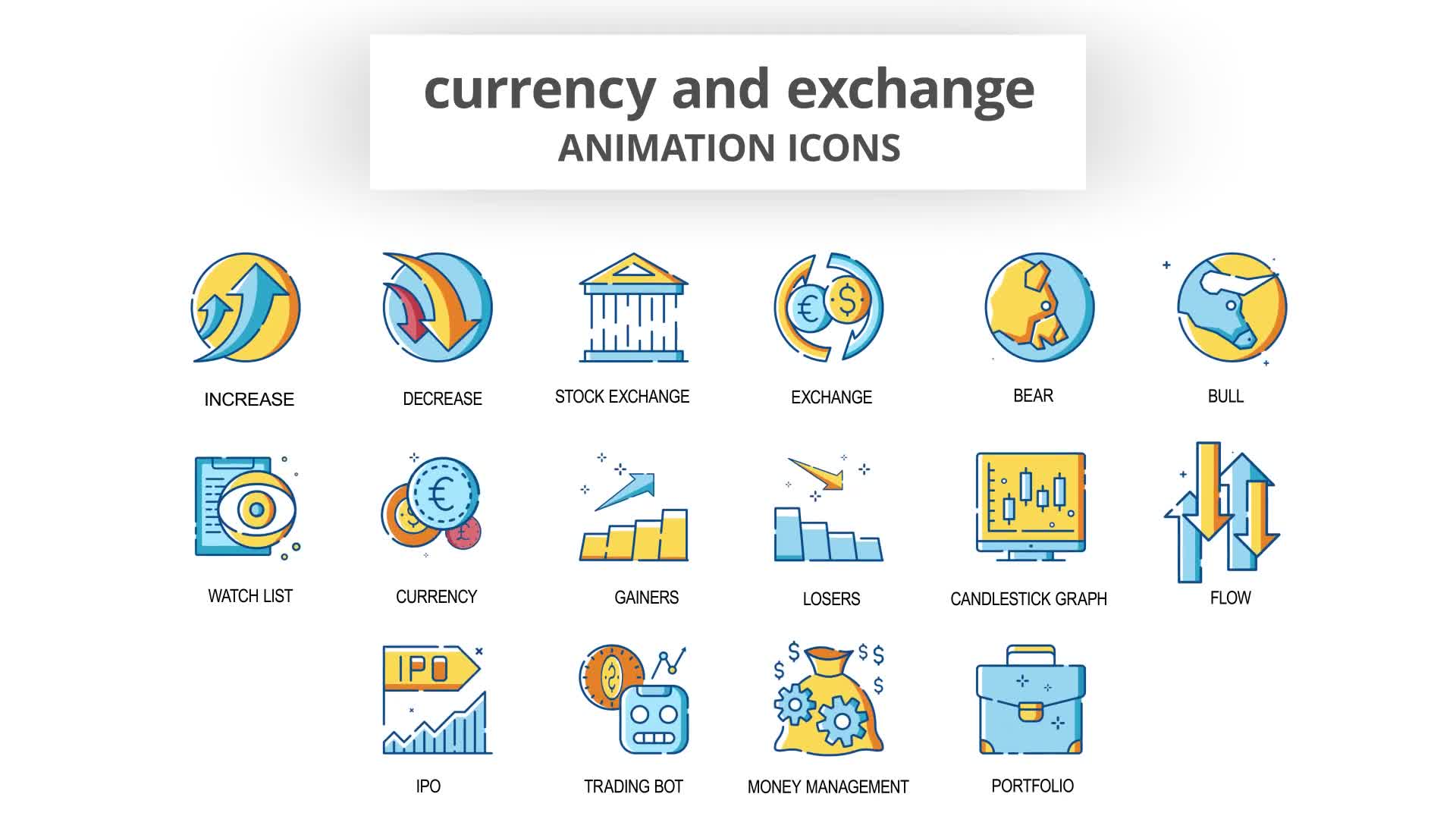 Currency & Exchange Animation Icons Videohive 30260825 After Effects Image 8