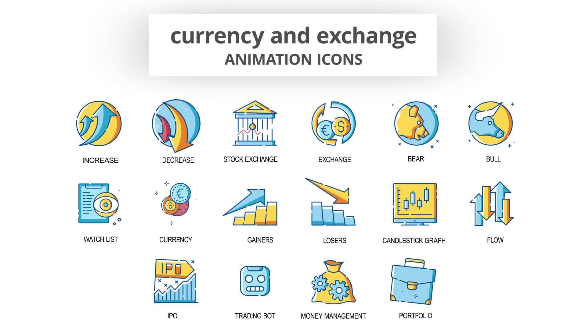 Currency & Exchange Animation Icons Videohive 30260825 After Effects Image 9