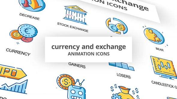 Currency & Exchange Animation Icons - 30260825 Download Videohive