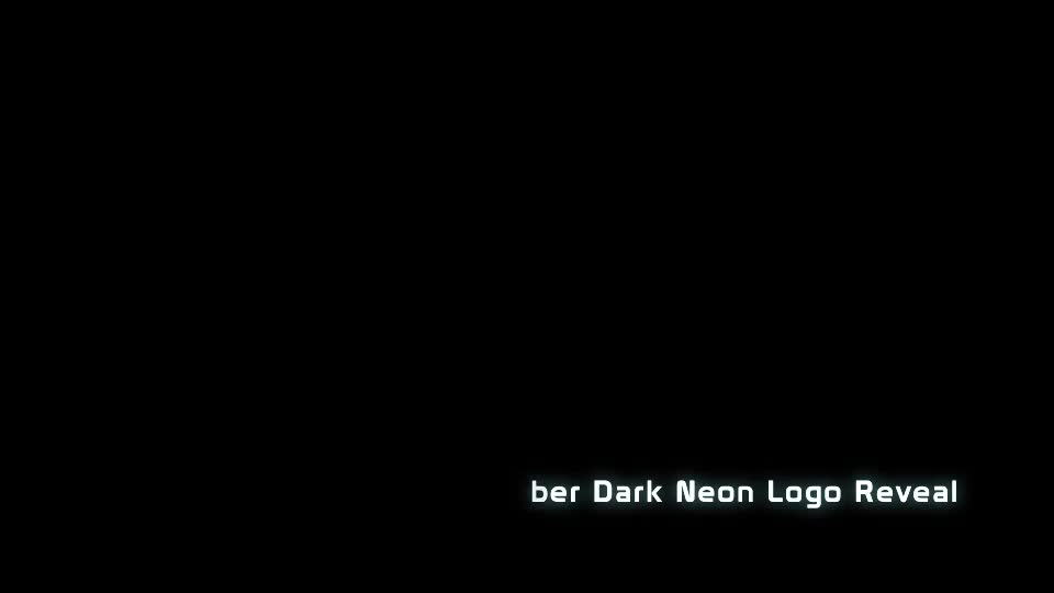 Cyber Dark Neon Logo Reveal Videohive 23306666 After Effects Image 1
