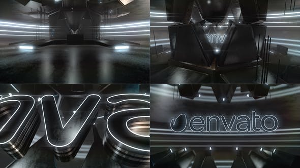 Cyber Dark Neon Logo Reveal - Download Videohive 23306666