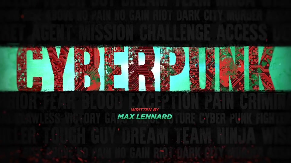 Cyberpunk Movie Titles - Download Videohive 15821778
