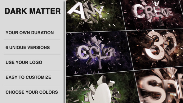 Dark Matter Cinematic Colliding Titles - Download Videohive 6845878