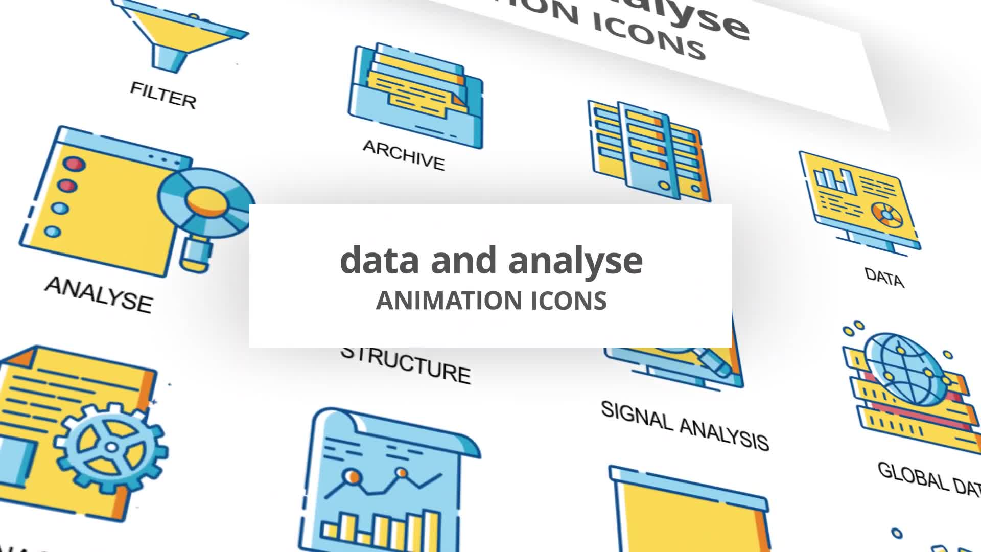 Data & Analyse Animation Icons Videohive 30260836 After Effects Image 1