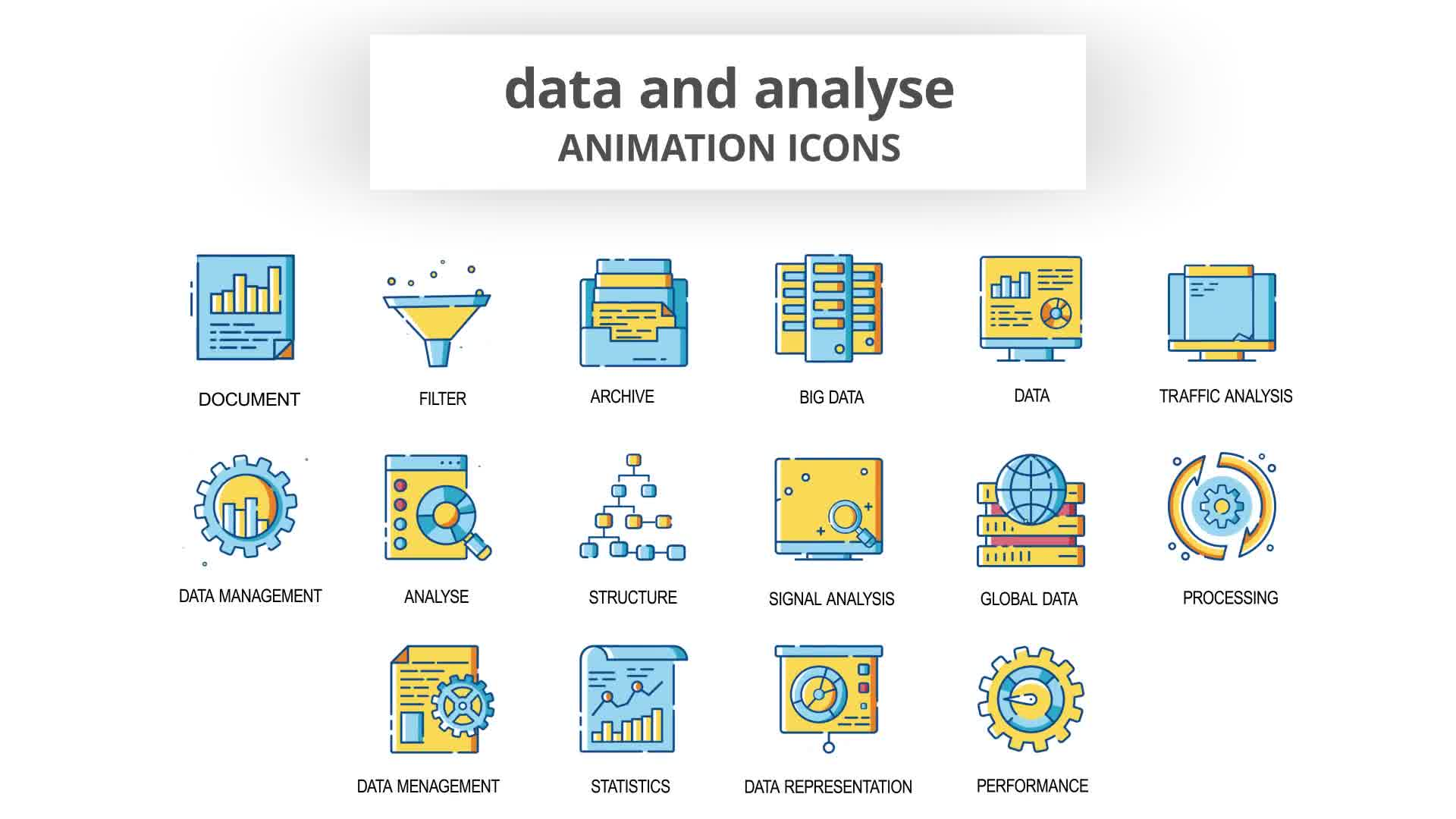 Data & Analyse Animation Icons Videohive 30260836 After Effects Image 10