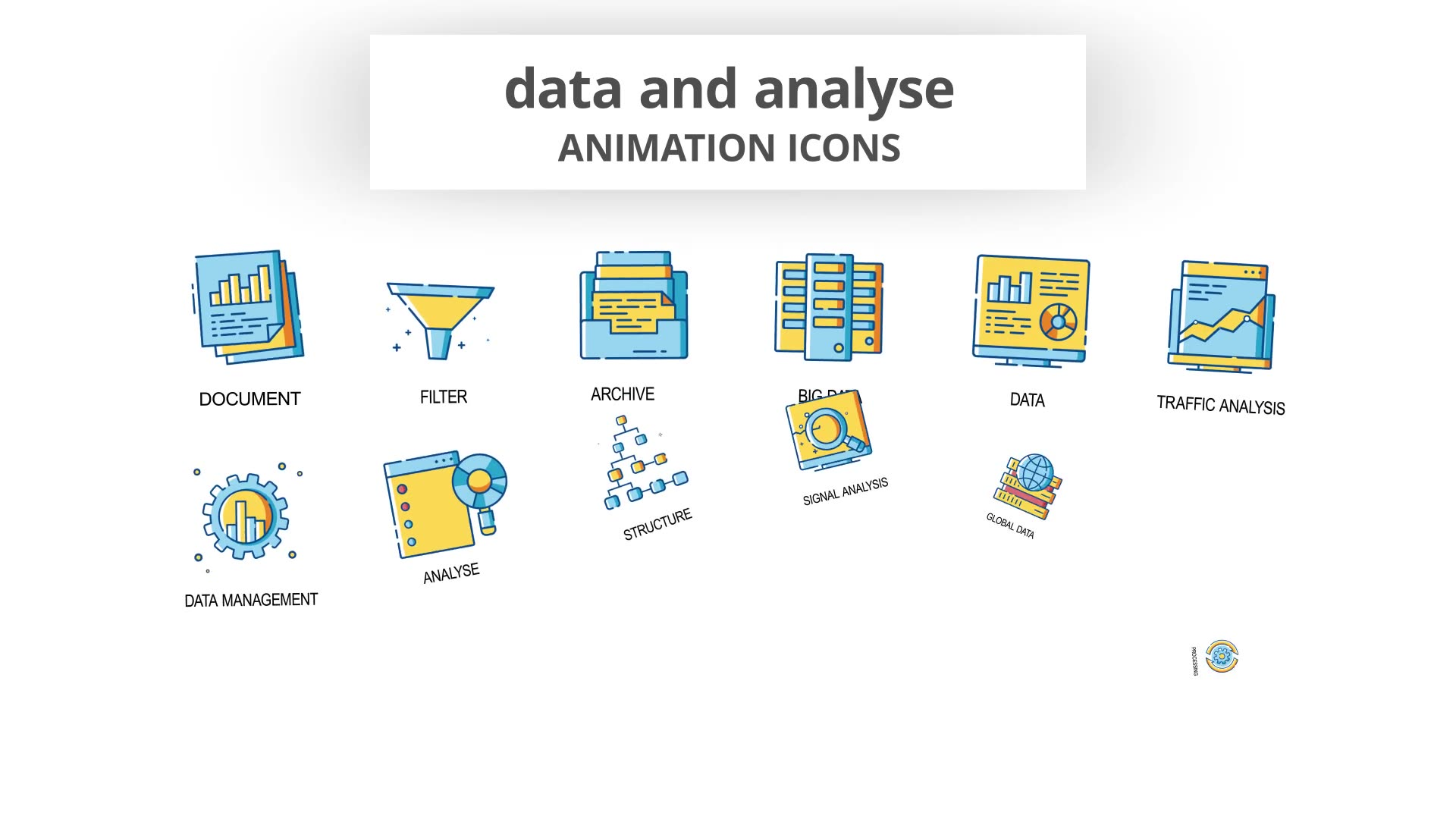 Data & Analyse Animation Icons Videohive 30260836 After Effects Image 4