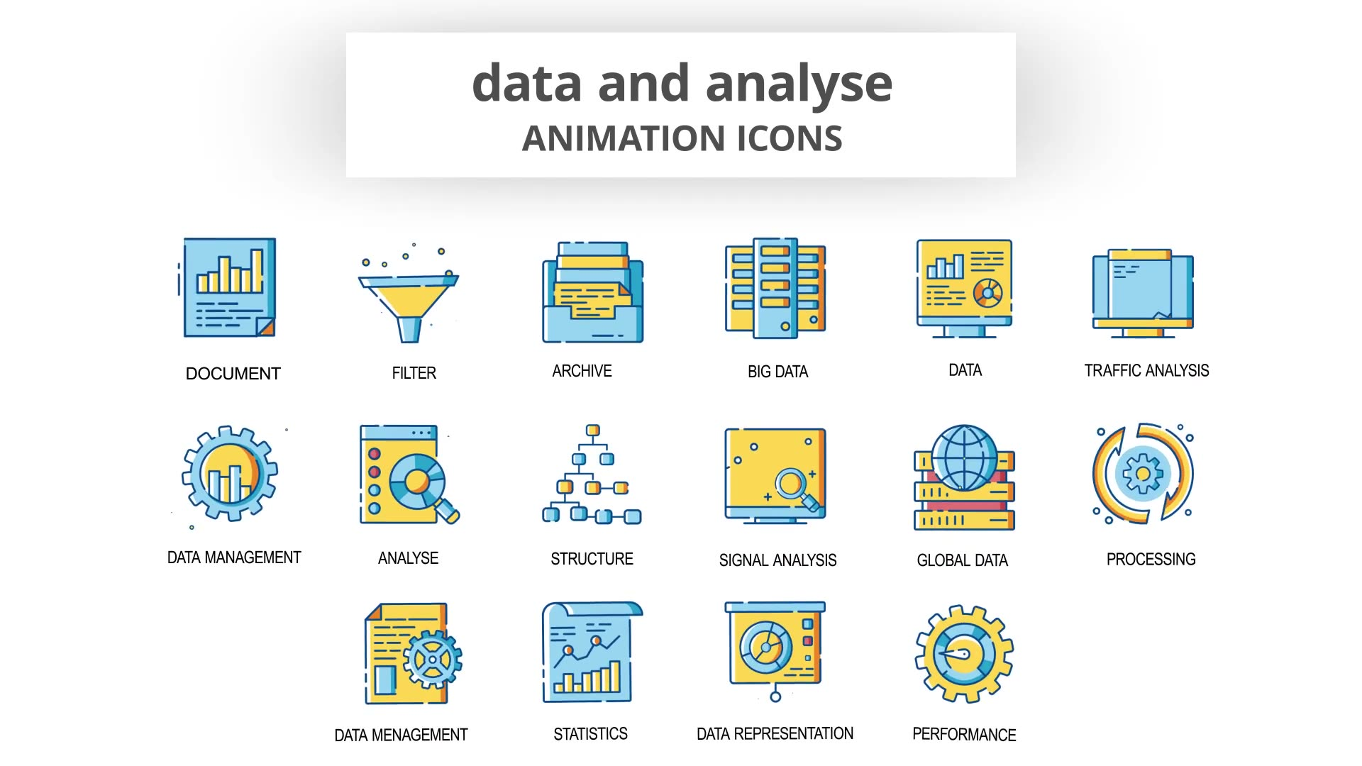 Data & Analyse Animation Icons Videohive 30260836 After Effects Image 5