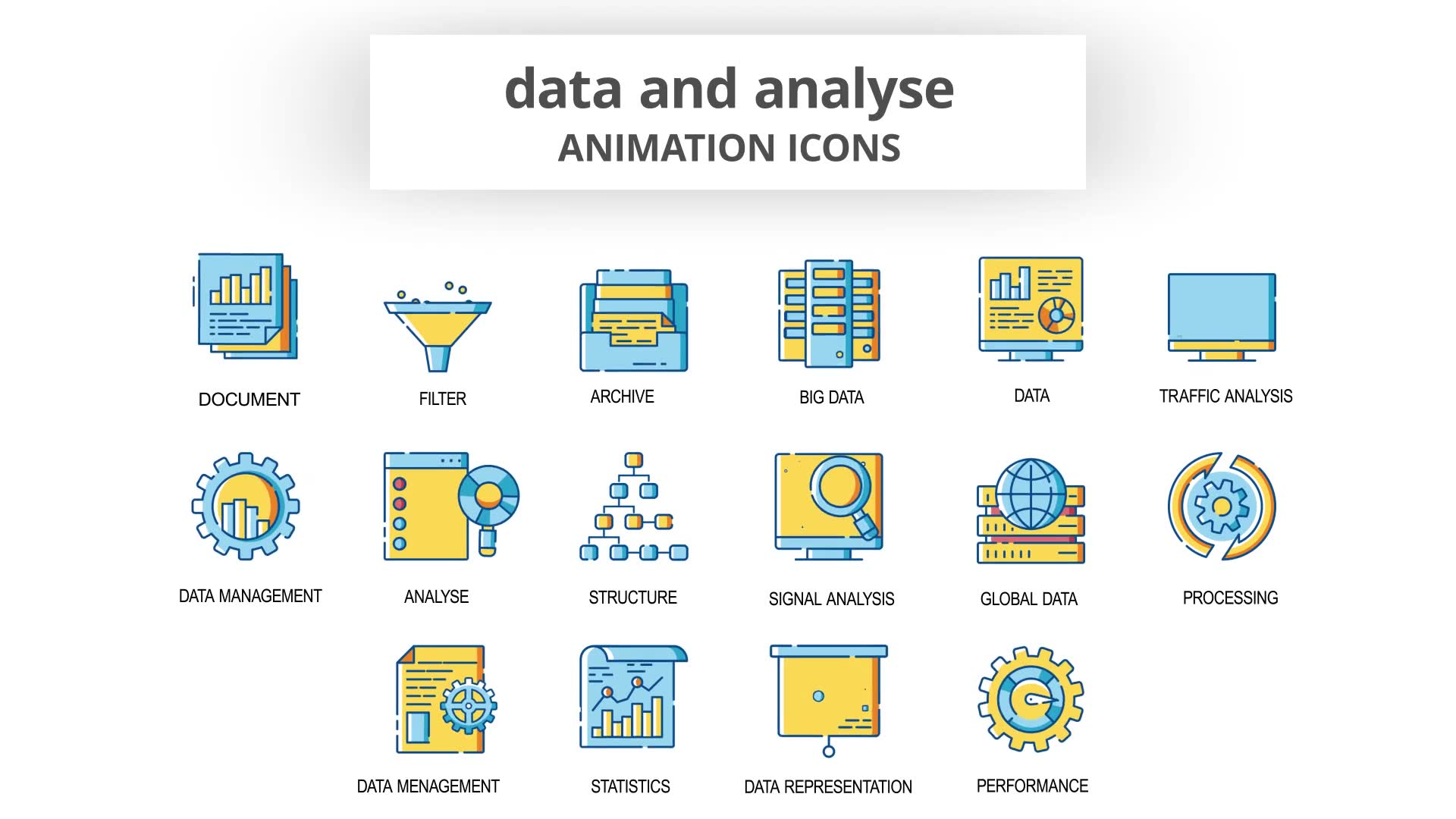 Data & Analyse Animation Icons Videohive 30260836 After Effects Image 6