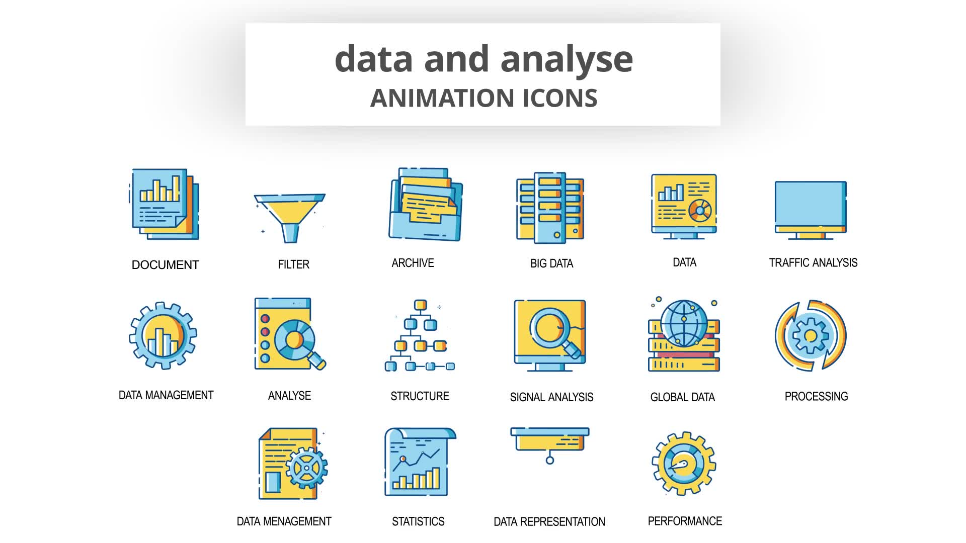 Data & Analyse Animation Icons Videohive 30260836 After Effects Image 7