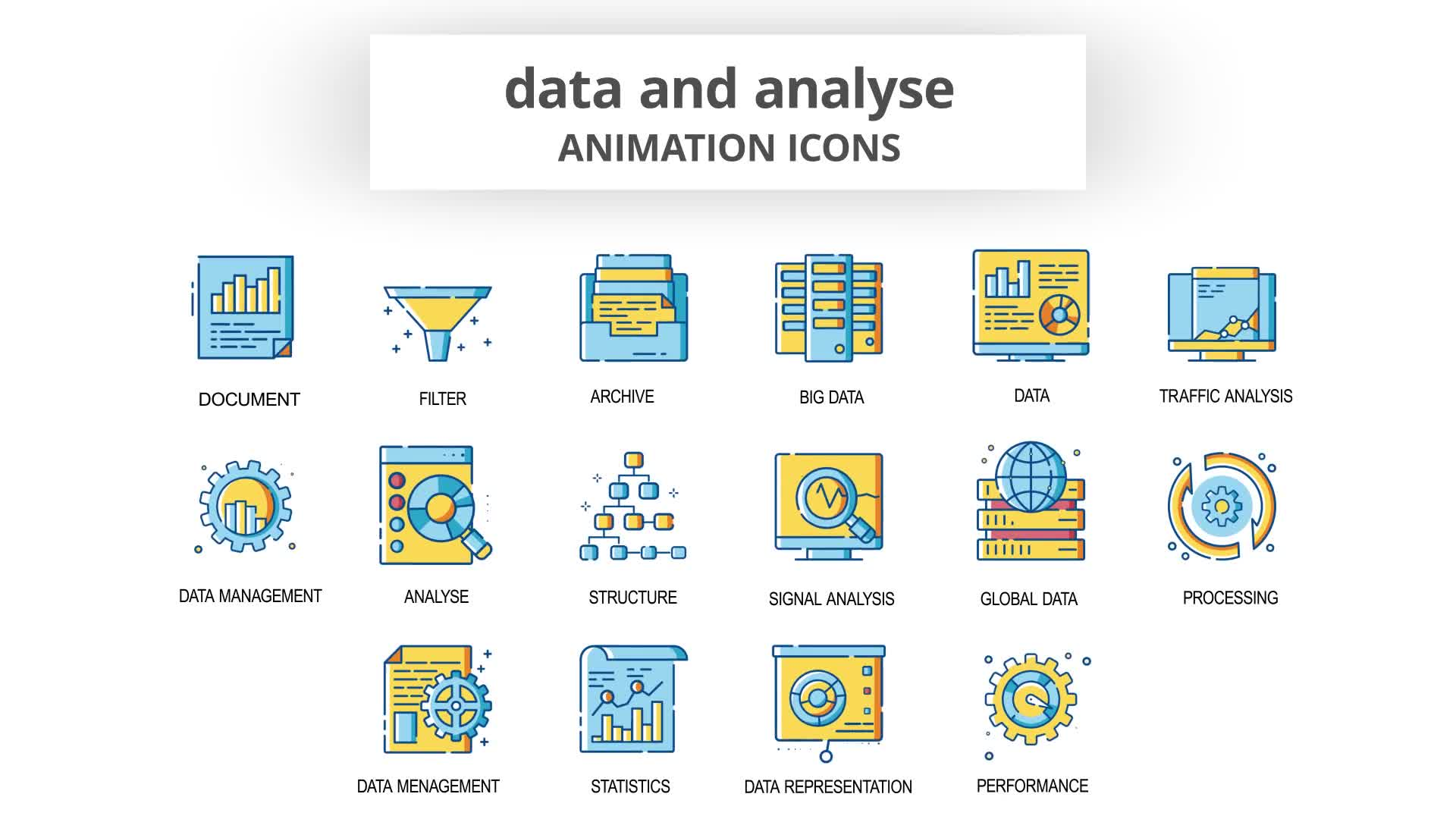 Data & Analyse Animation Icons Videohive 30260836 After Effects Image 8