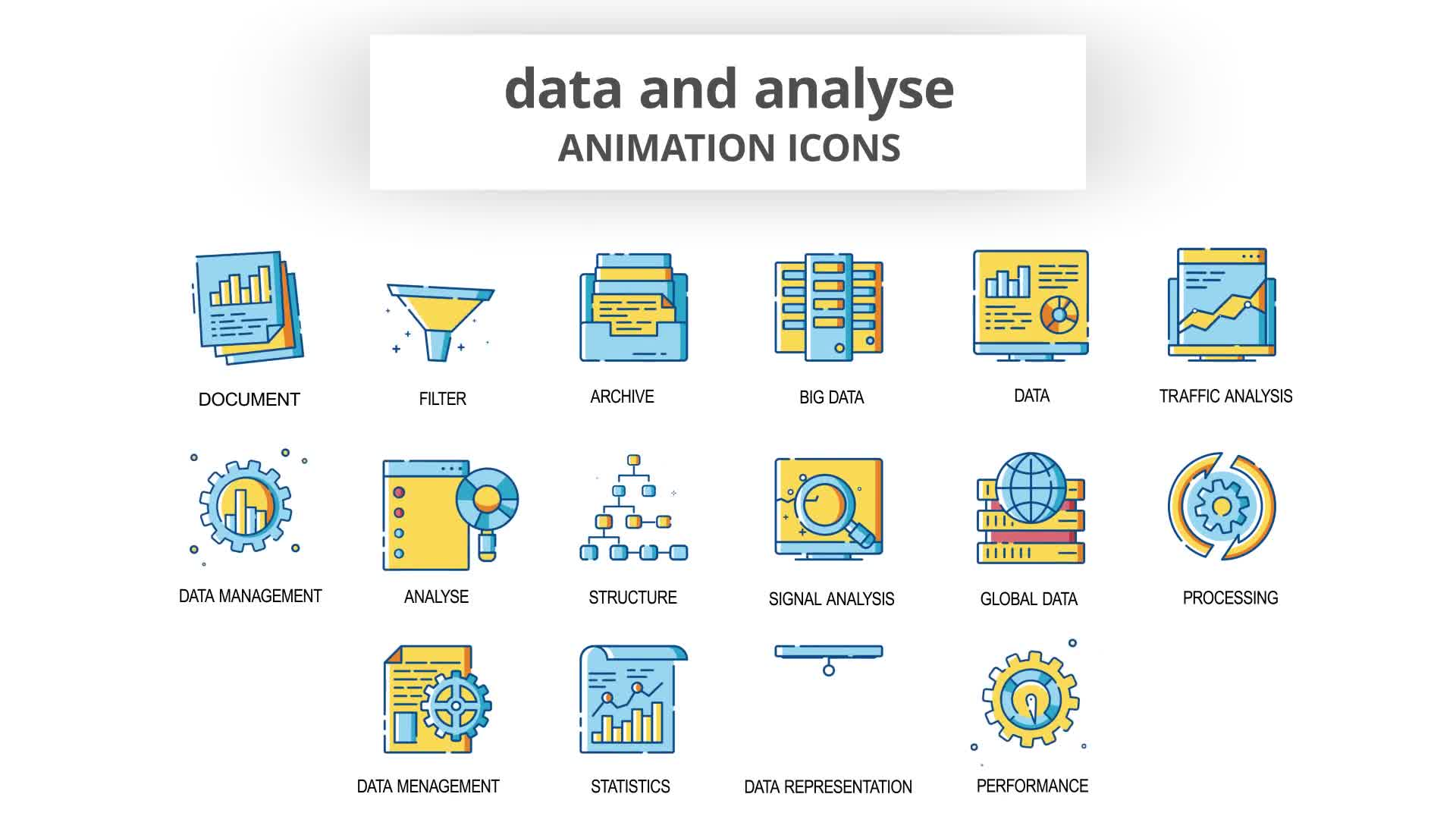 Data & Analyse Animation Icons Videohive 30260836 After Effects Image 9