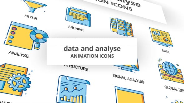 Data & Analyse Animation Icons - 30260836 Videohive Download