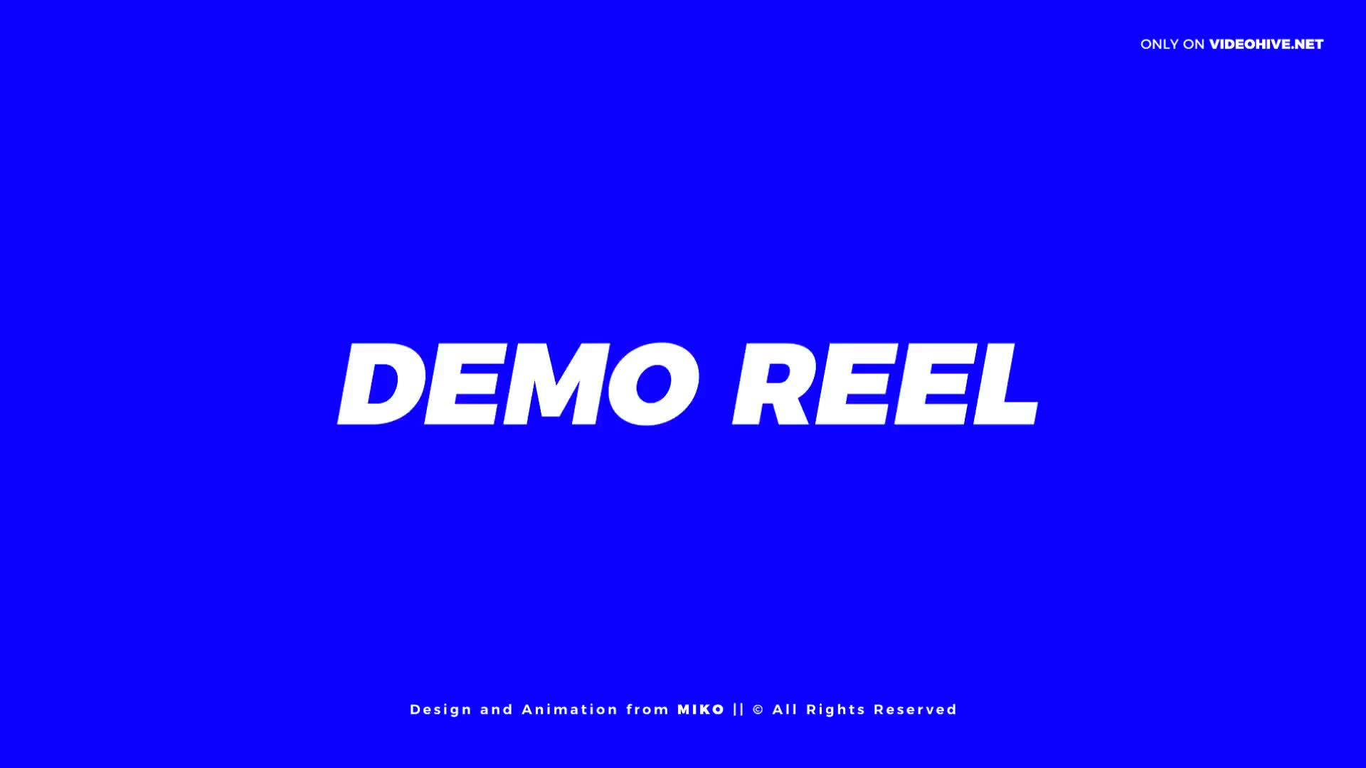 Demo Reel Promo Opener - Download Videohive 21167681