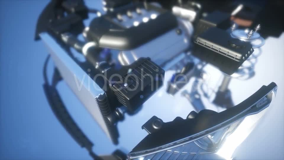 Detailed Car Engine and Other Parts - Download Videohive 21041387
