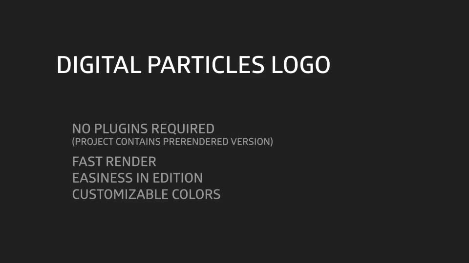 Digital Particles Logo - Download Videohive 10299498