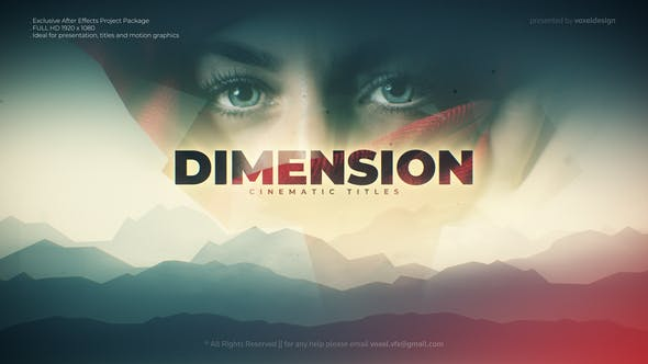 Dimension Cinematic title - Download Videohive 28331521