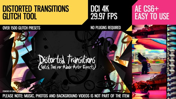 Distorted Transitions (Glitch Tool) - Download Videohive 18524764