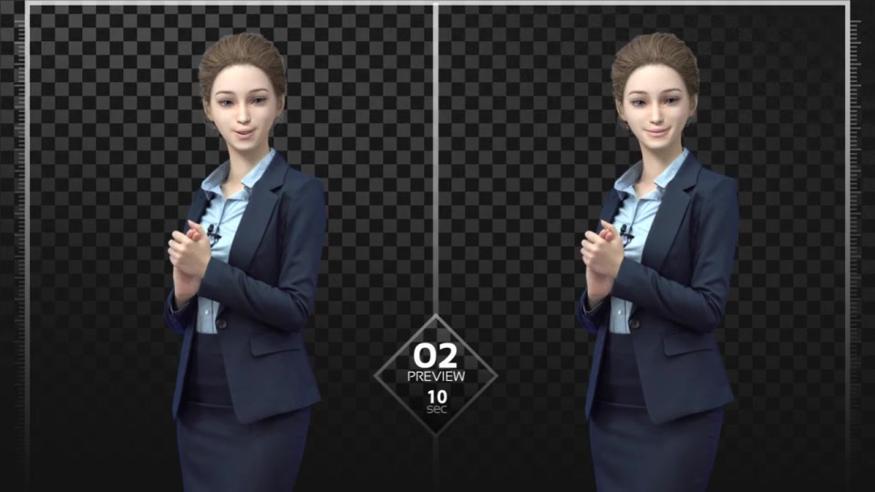 Dual Explainer Jenny Navy Suit - Download Videohive 18820420