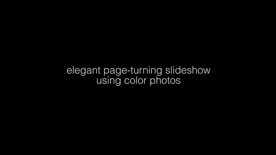 Elegant Page Turning Slideshow - Download Videohive 9702135