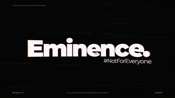 Eminence | Glitch Logo - 24990819 Download Videohive