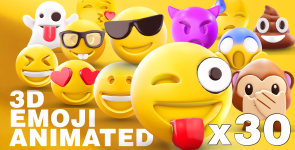 EMOJI 3D animated - Download Videohive 19452371