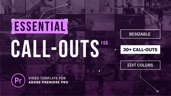 Essential Callouts Library | MOGRT for Premiere - Download Videohive 21978241