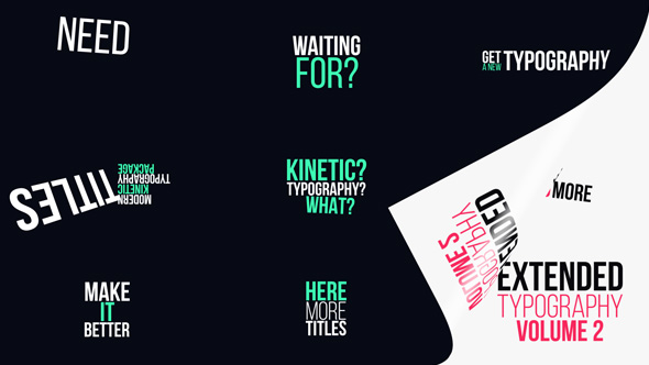 Extended Typography Vol.2 - Download Videohive 20175254