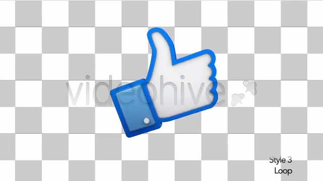 Facebook 3D Thumbs Up Like Icon - Download Videohive 6337347