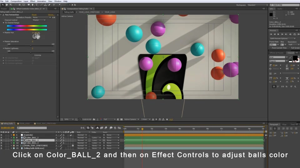 Falling Balls Logo Videohive 6688683 After Effects Image 7